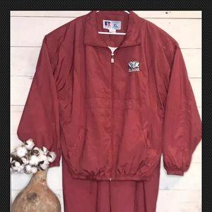 Russell Athletic Windbreaker Track Suit Alabama